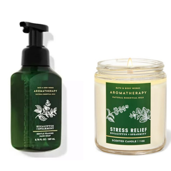 BBW EUCALYPTUS SPEARMINT Hand Soap And Candle